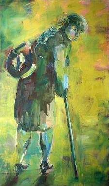 Matkalla jonnekin, 150 x 90 cm, öljy kankaalle, 2017.