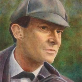 Sherlock Holmes, 55 x 40 cm, öljy kankaalle, 2017.