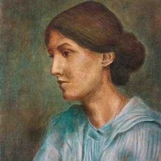 Virginia Woolf, 62 x 47 cm, öljy kankaalle, 2017.